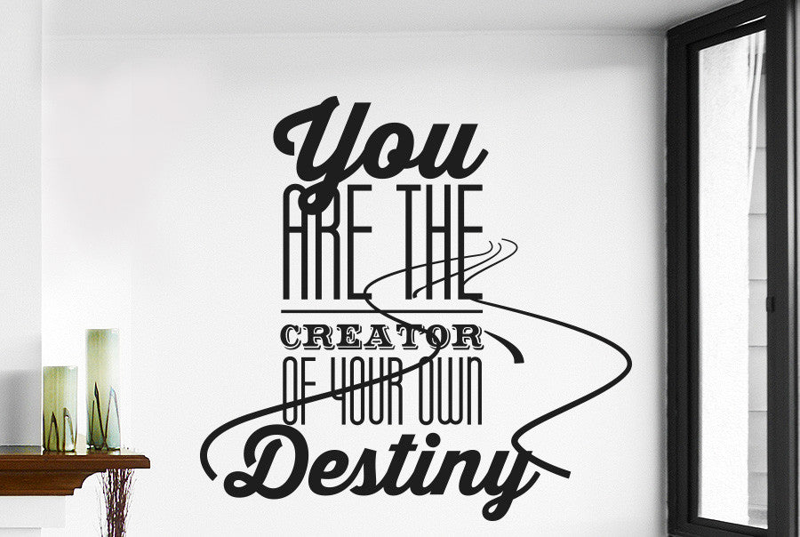 5bcc1b45175b9 You Are The Creator Of Your Own Destiny Wall Sticker
