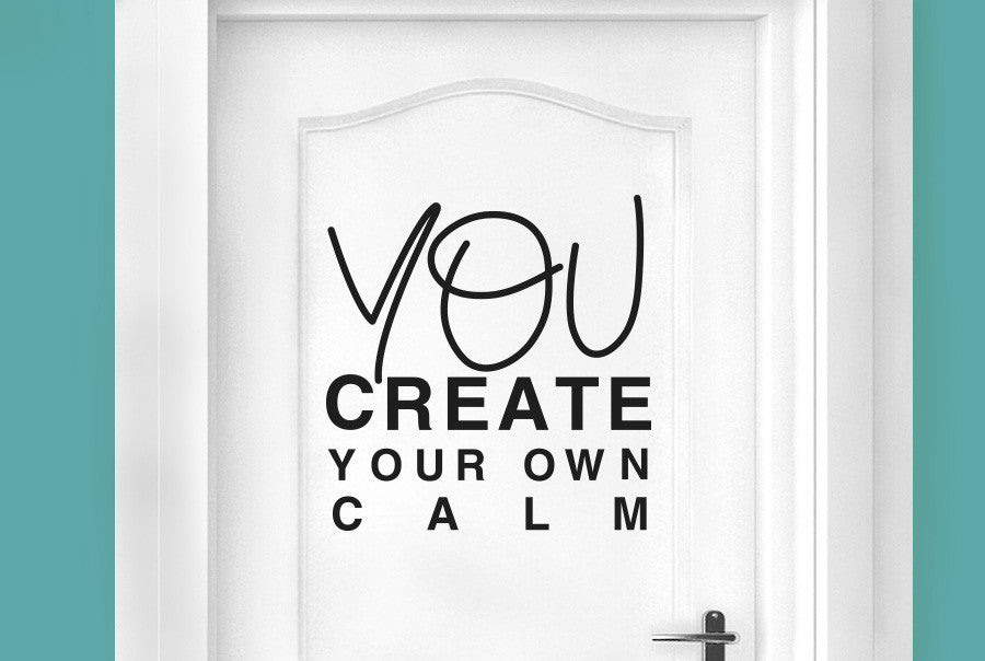 You create your own calm door room sticker cut it out for Create your own door