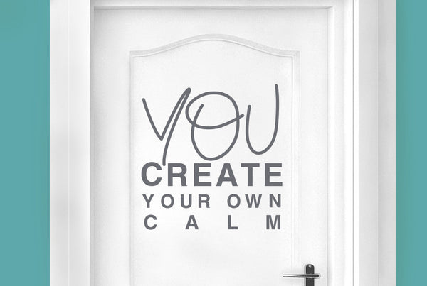 You create your own calm door room sticker cut it out for Create your own wall mural photo