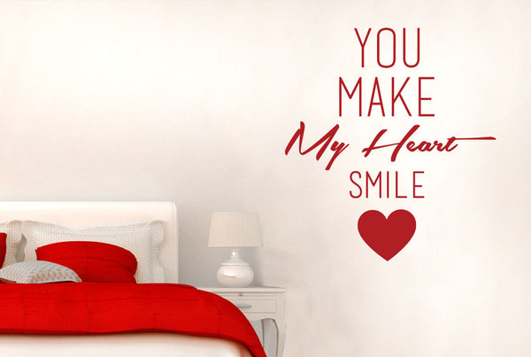 You Make My Heart Smile Wall Sticker Cut It Out Wall
