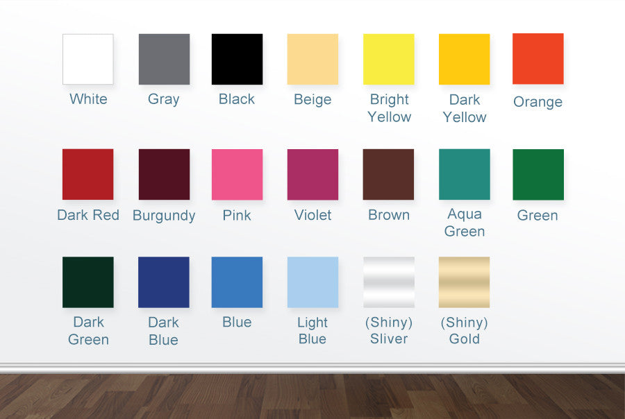 Free  Colour Vinyl Sample Swatch Chart  Cut It Out Wall Stickers