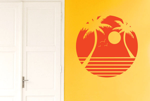 Palm Trees With Sunset Wall Sticker Cut It Out Wall Stickers