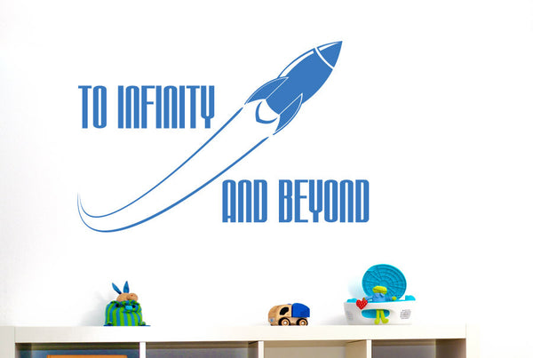 To Infinity And Beyond Wall Sticker Cut It Out Wall Stickers