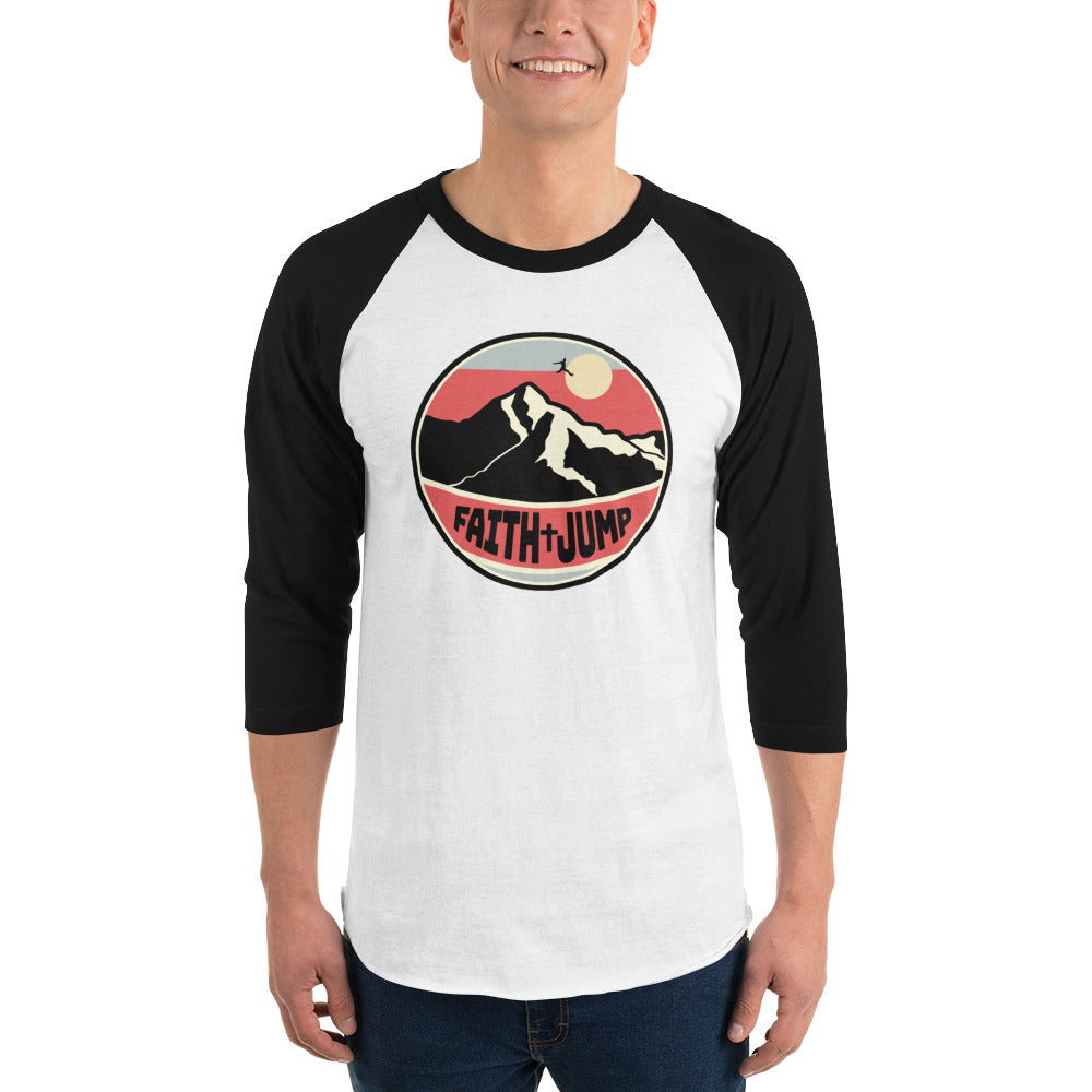 Men's Faith Jump 3/4 sleeve raglan shirt