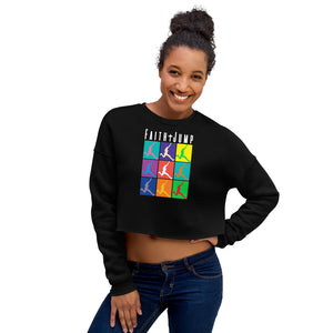 Womens Faith Jumper Crop Top Sweatshirt