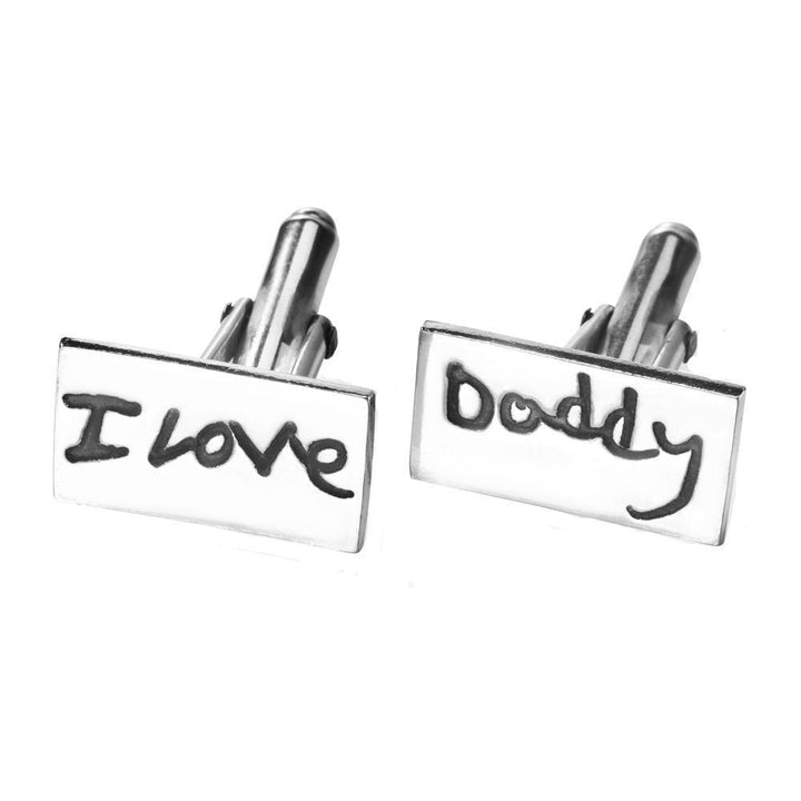 Handwriting Cufflinks - Oblong-Smallprint