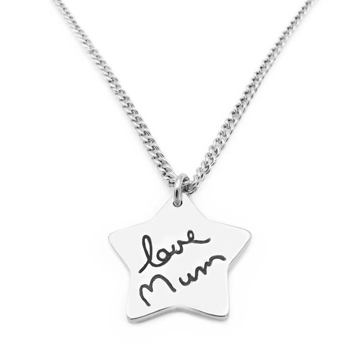 Handwriting Necklace - Curb-Smallprint