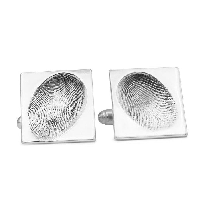 Original Fingerprint Cufflinks - Square-Smallprint