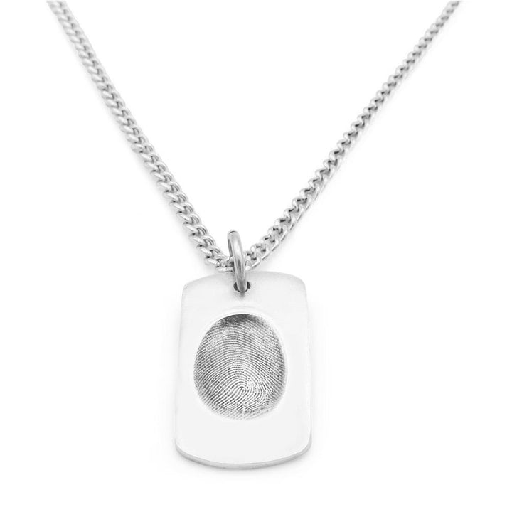 Original Fingerprint Necklace - Curb-Smallprint