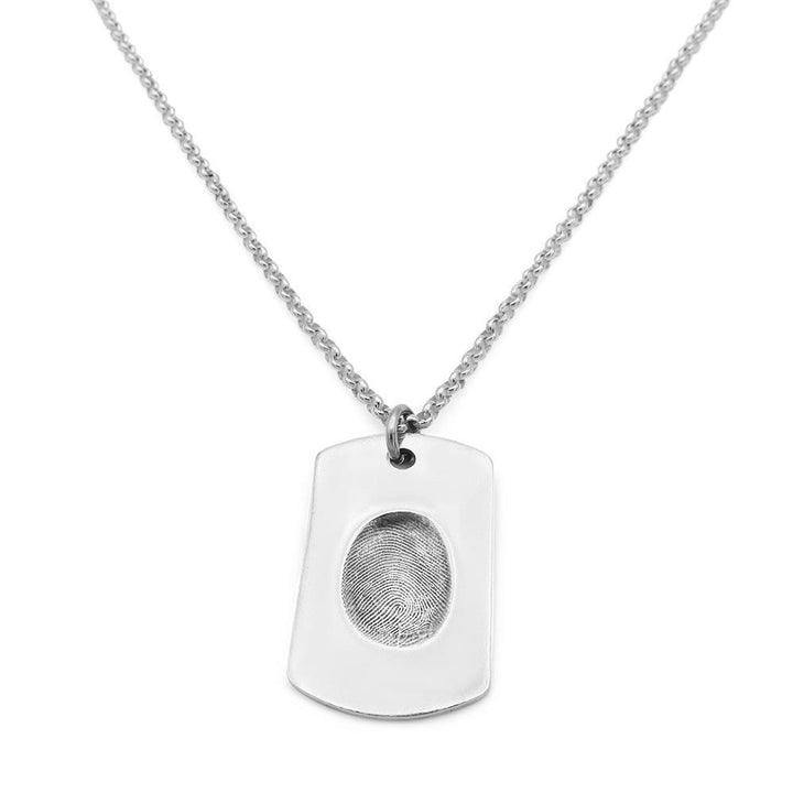 Original Fingerprint Necklace - Fine Belcher-Smallprint
