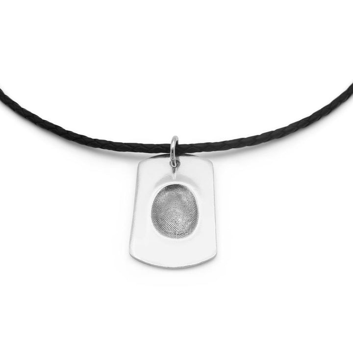 Original Fingerprint Necklace - Leather-Smallprint