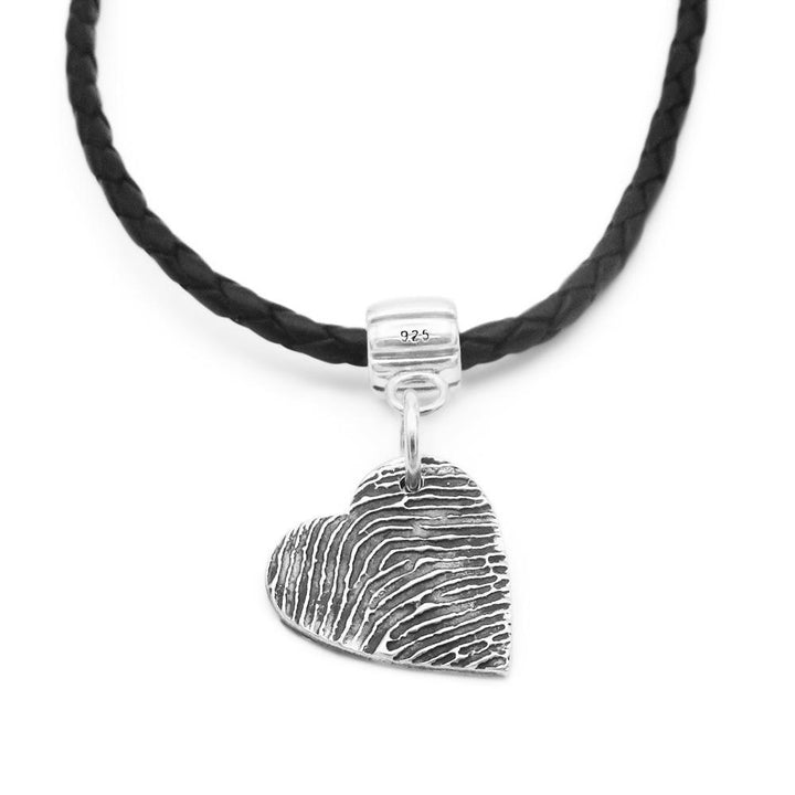 """Tender Touch"" Fingerprint Bracelet - Leather-Smallprint"