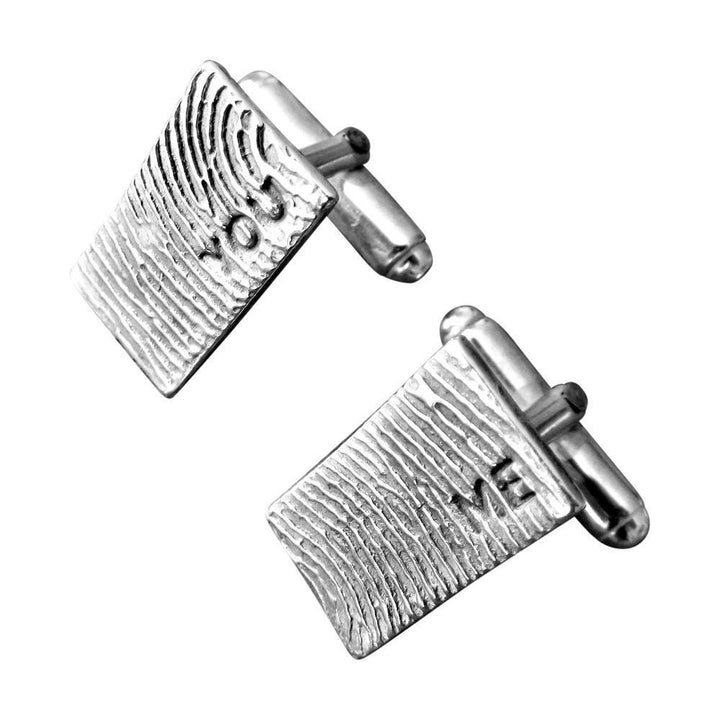 """Tender Touch"" Fingerprint Cufflinks - You & Me-Smallprint"
