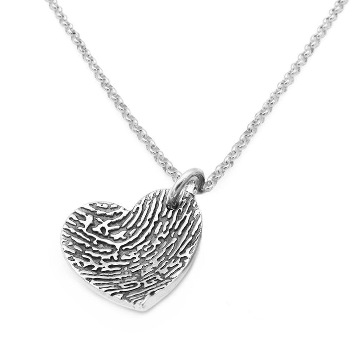 """Tender Touch"" Fingerprint Dome Necklace - Fine Belcher-Smallprint"