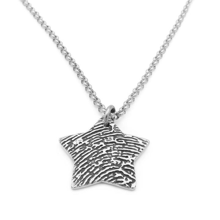 """Tender Touch"" Fingerprint Necklace - Belcher-Smallprint"