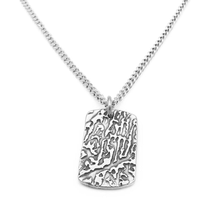 """Tender Touch"" Fingerprint Necklace - Curb-Smallprint"
