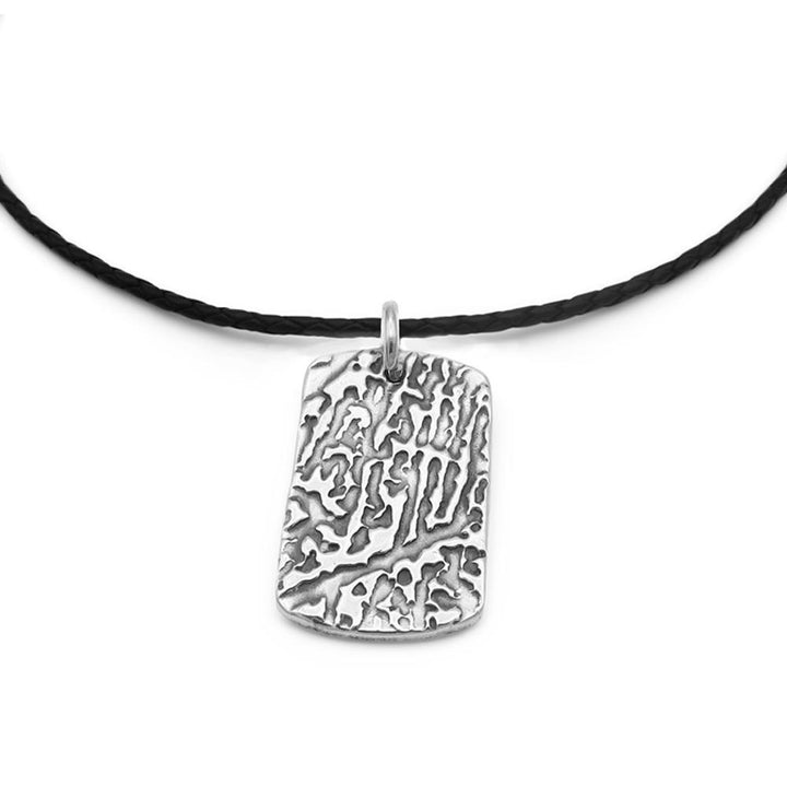 """Tender Touch"" Fingerprint Necklace - Leather-Smallprint"