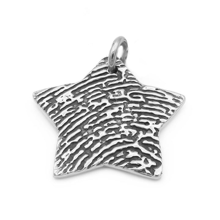 Star shaped fingerprint pendant