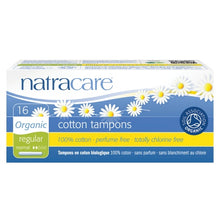Load image into Gallery viewer, Natracare Organic Cotton Tampons (16 Regular)