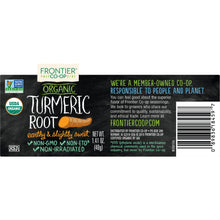 Load image into Gallery viewer, Frontier Organic Ground Turmeric Root