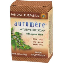 Load image into Gallery viewer, Auromère Sandal-Turmeric Soap