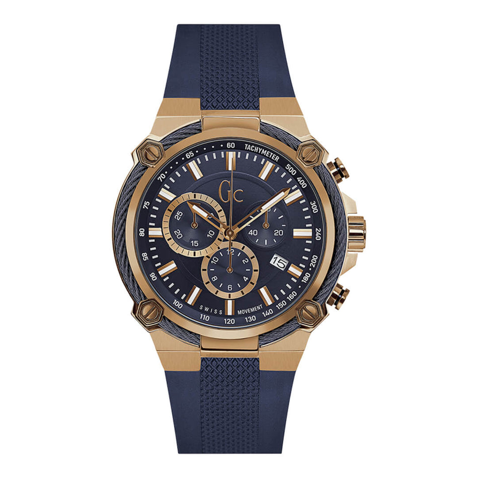 Montre GC Y24006G7 Chronographe Homme Silicone sport