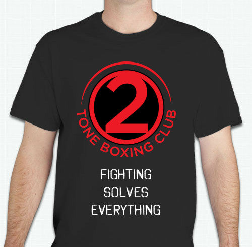 2 Tone Boxing Club- Fighting Solves Everything Unise T-Shirt