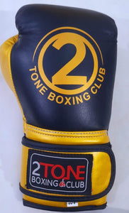 8oz. Leather Gloves Black/Gold