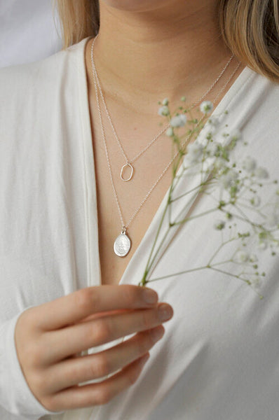 Zilveren ketting simple oval 50cm Wild Fawn