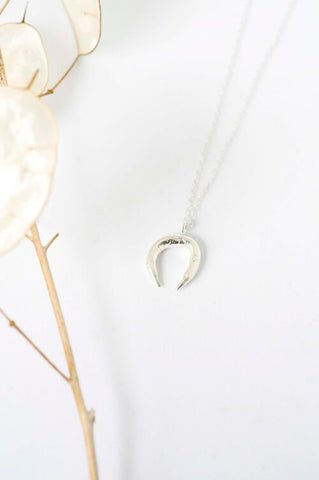 Organic curve gerecyclede zilveren ketting Wild Fawn