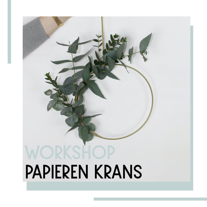 1202 Workshop papieren winterkrans 2 december | 19:30 uur