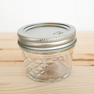 Mason jar Ball quilted 4 oz met deksel