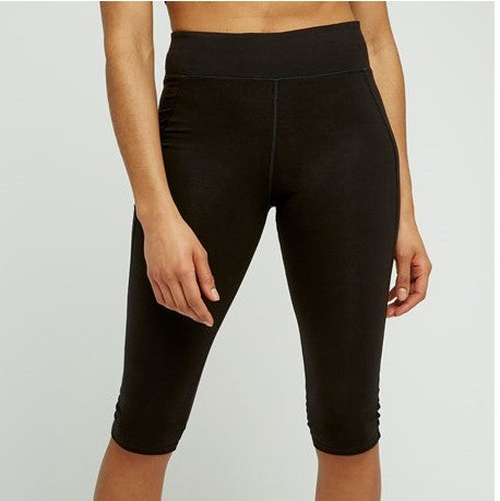 People Tree cropped yoga legging biokatoen zwart