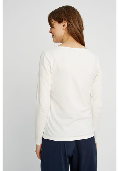 People Tree Fallon long sleeve top met lange mouwen en ronde hals