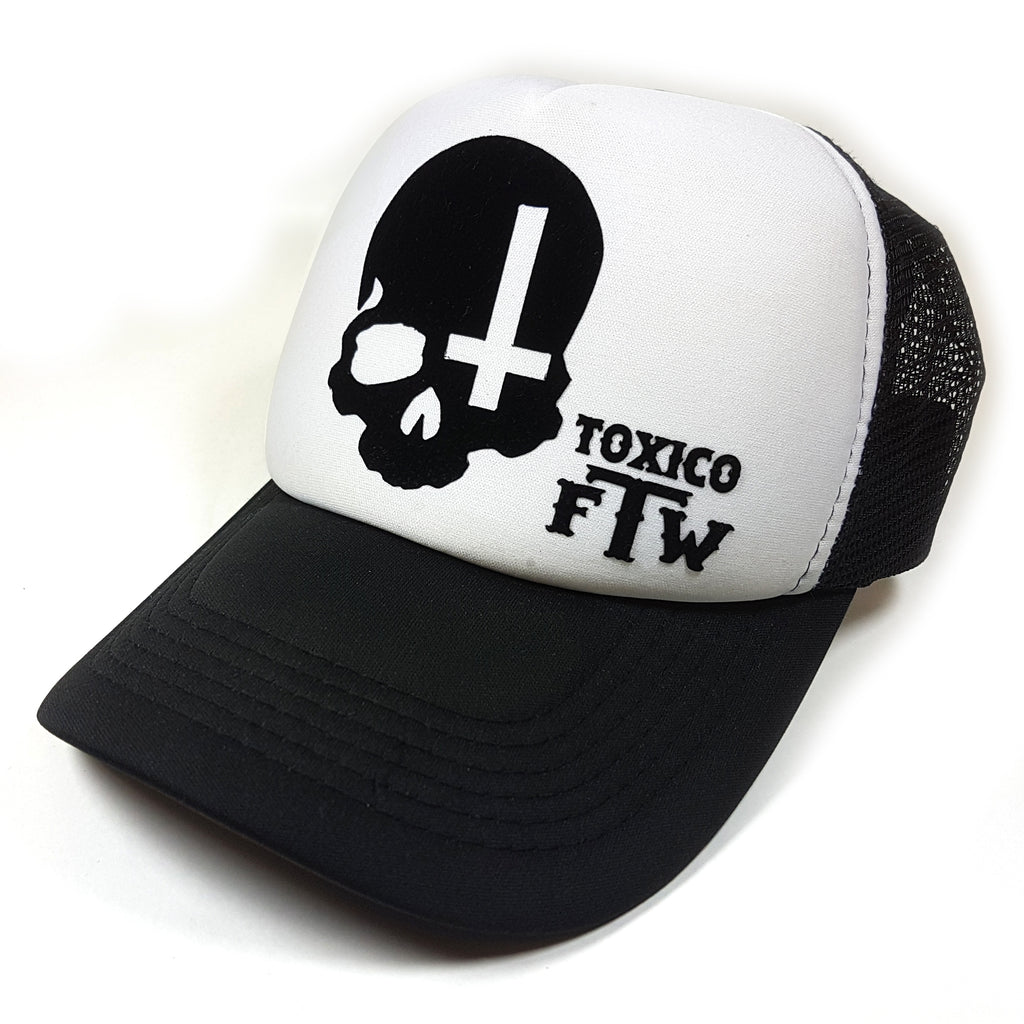 Skull Cross Trucker Hat - Toxico Clothing