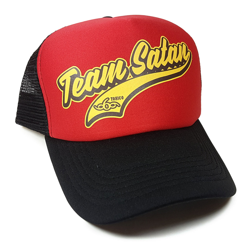 Team Satan Trucker Hat - Toxico Clothing