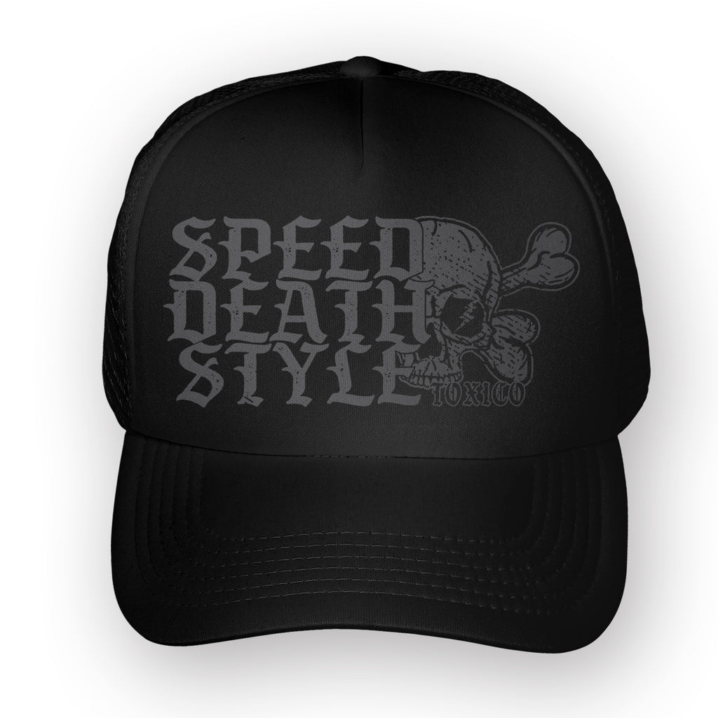 Speed Death Style 2 Trucker Hat - Toxico Clothing