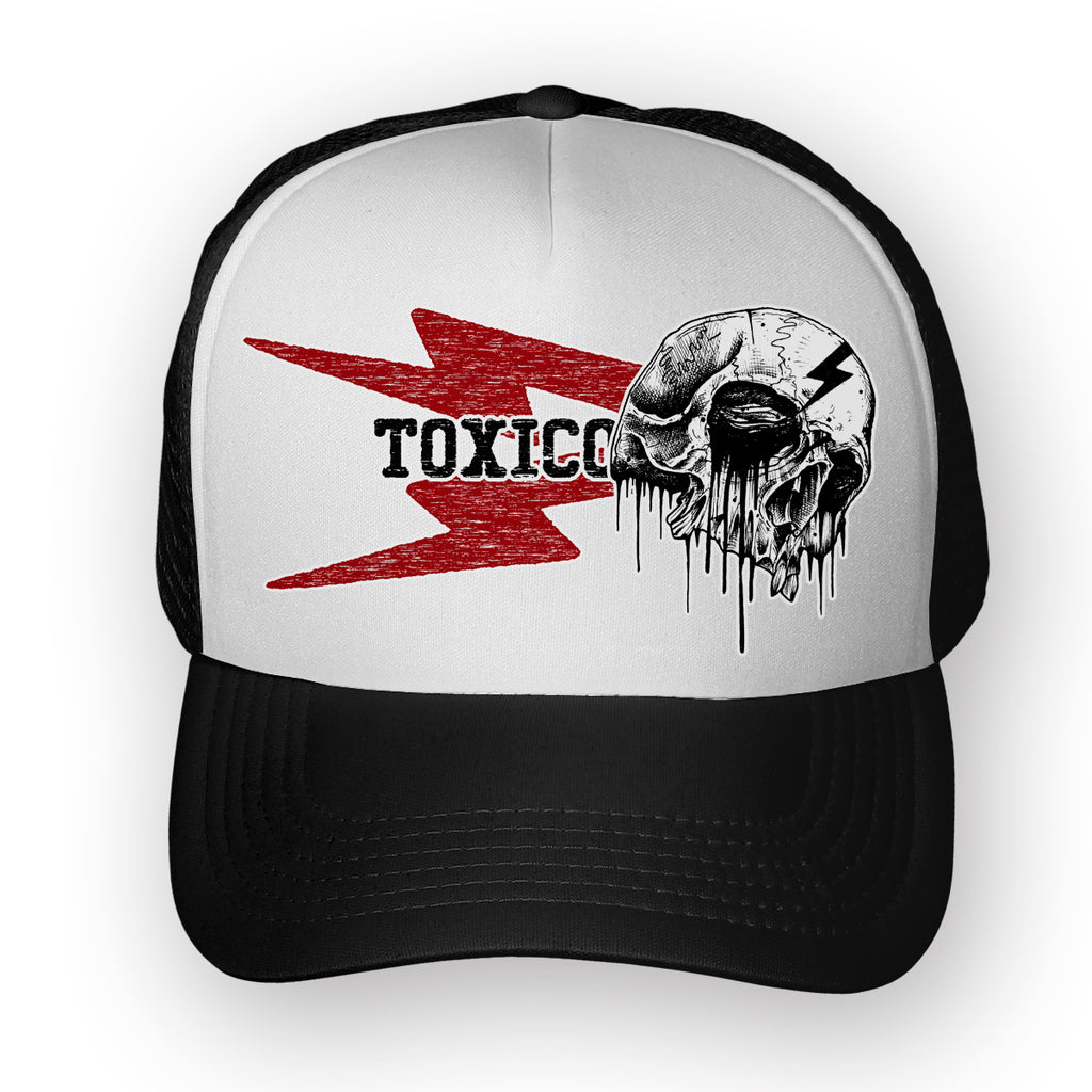 Bolt Skull Trucker Hat - Toxico Clothing