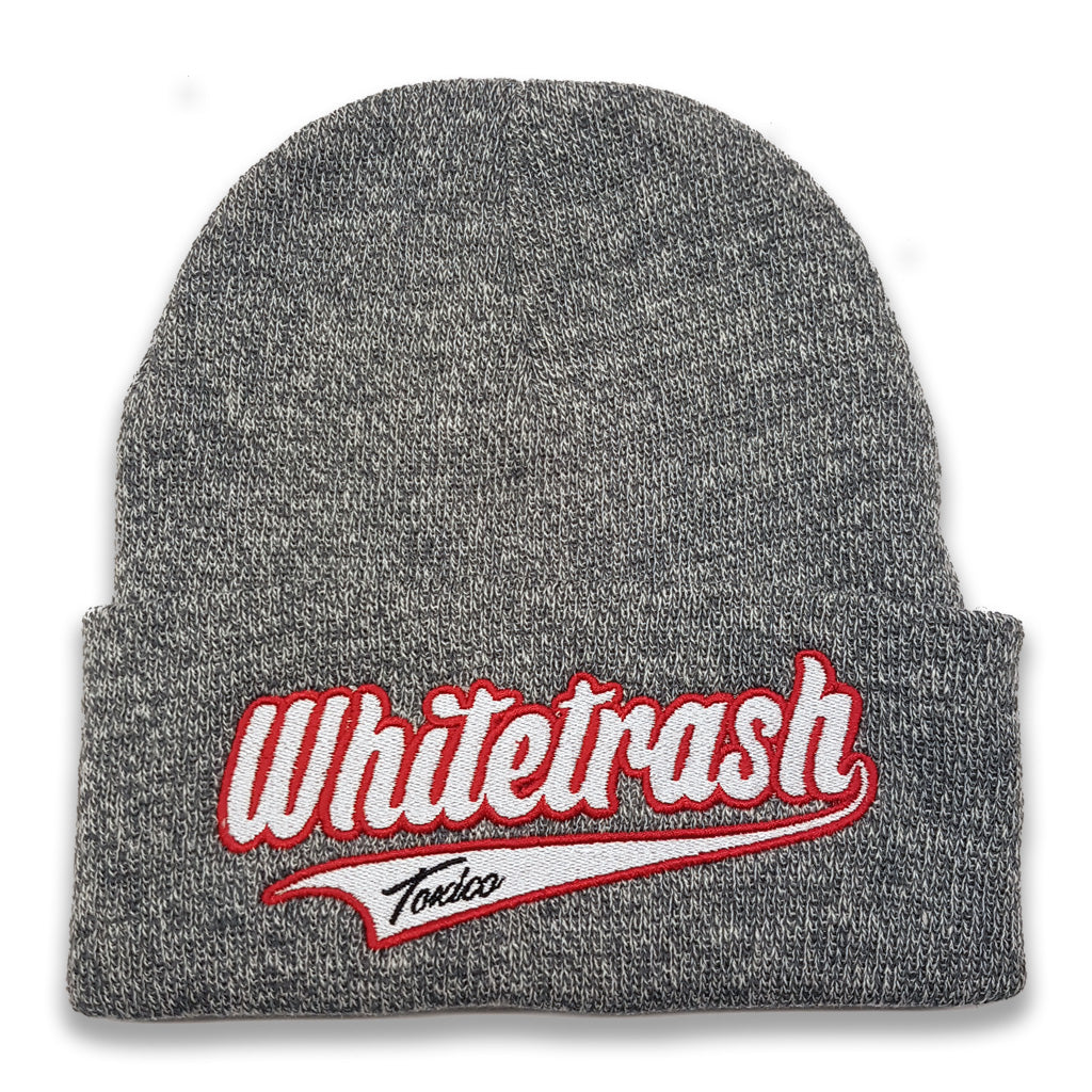 Whitetrash Script Beanie - Toxico Clothing