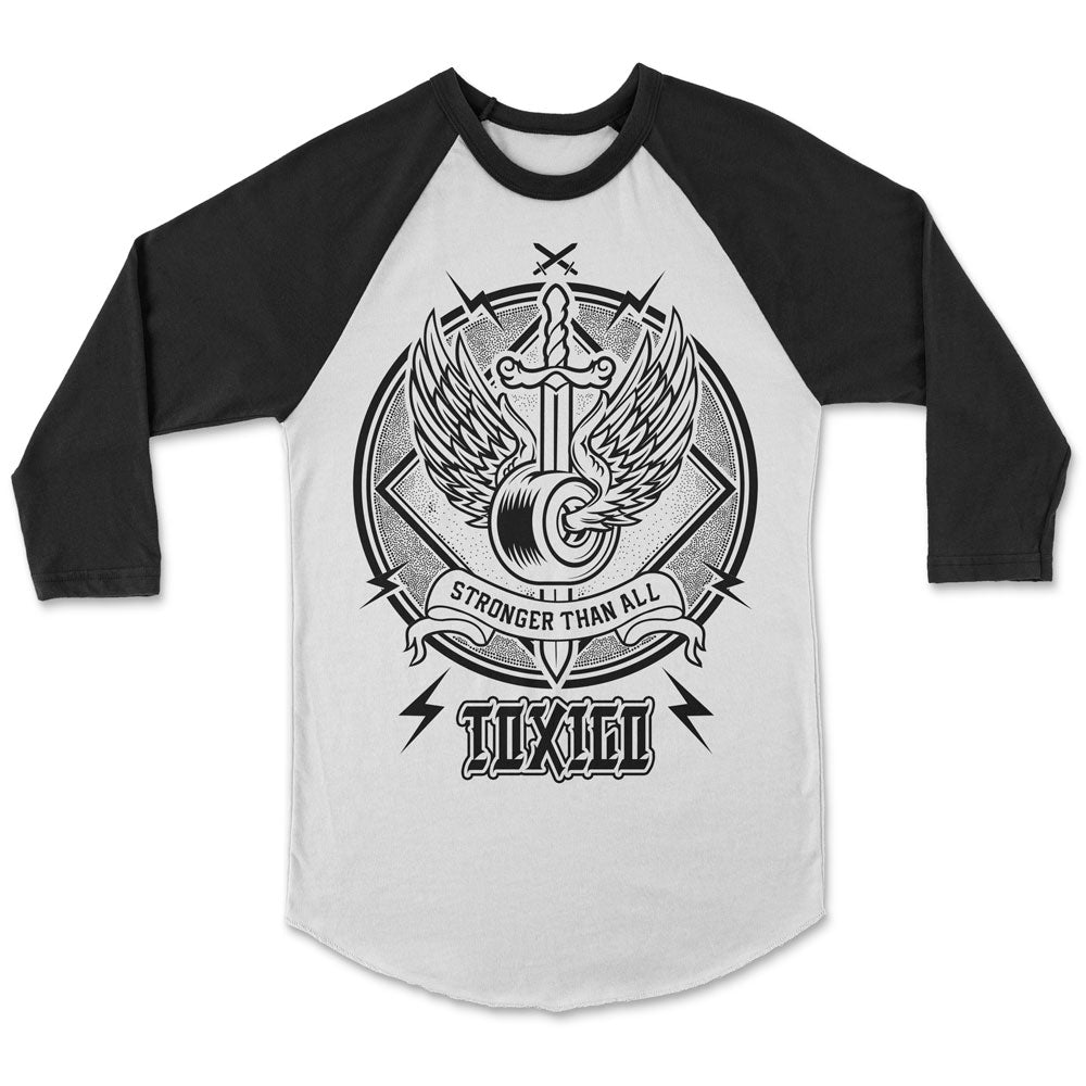 Only The Strong Raglan Tee