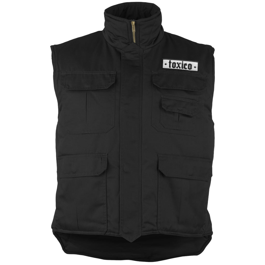 Black Padded Bodywarmer - Toxico Clothing