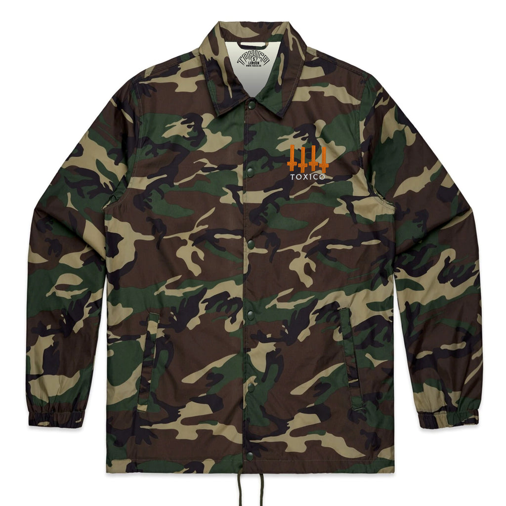Flag Camo Coach Jacket