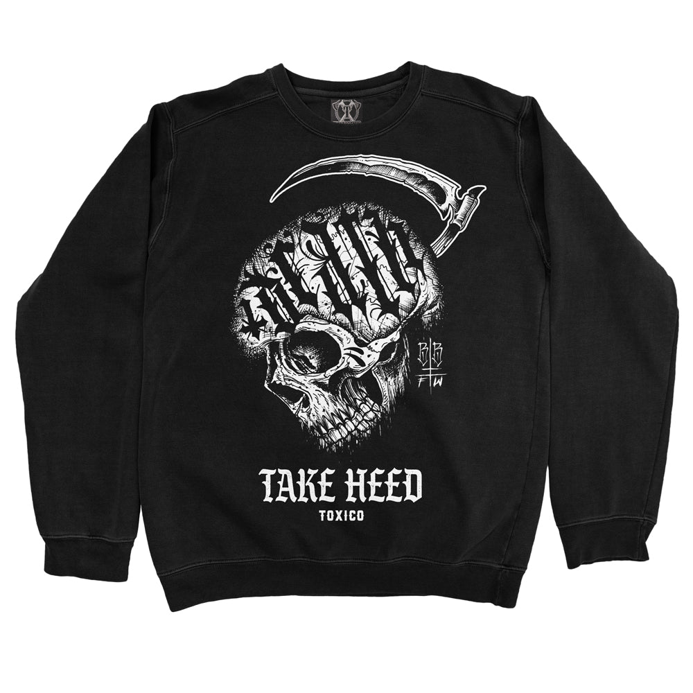 Take Heed Crewneck - Toxico Clothing