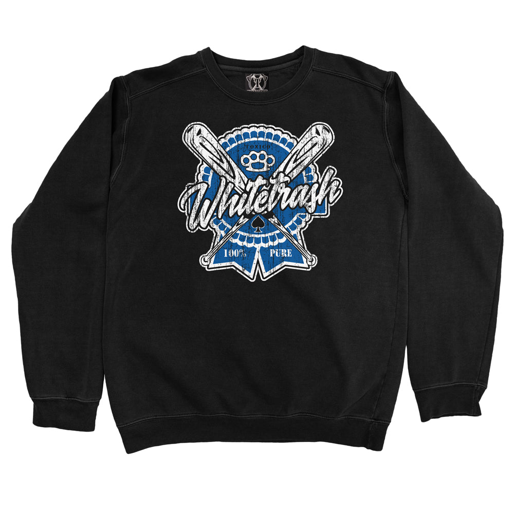 Whitetrash Rosette Crewneck - Toxico Clothing