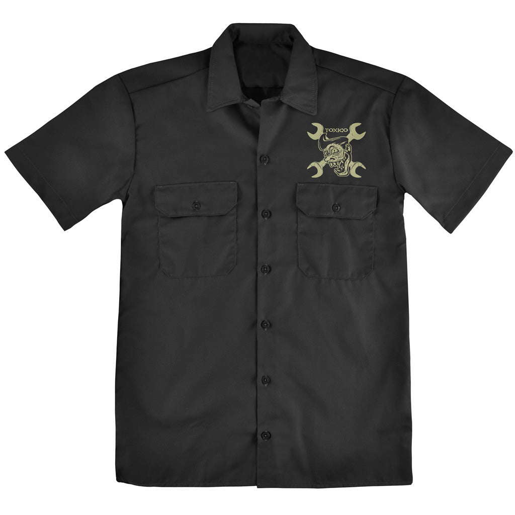Pedal To The Metal Workshirt - Toxico Clothing