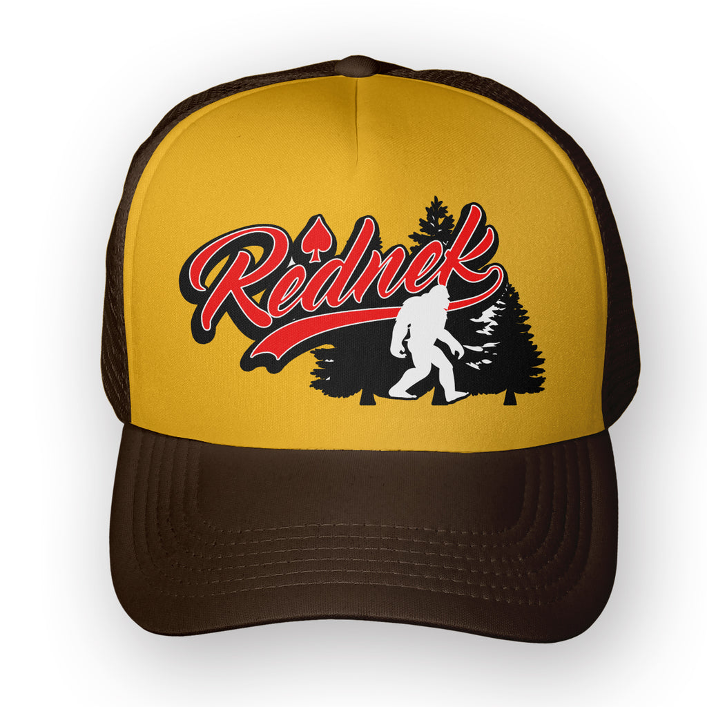 Rednek Sasquatch Trucker Hat - Toxico Clothing