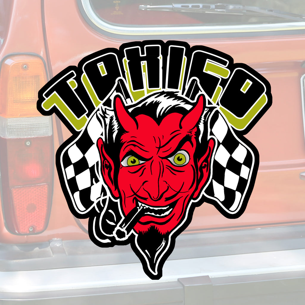 Devil Head Sticker