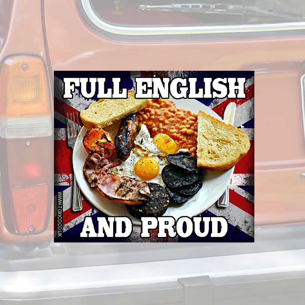 Full English Sticker - Toxico Clothing