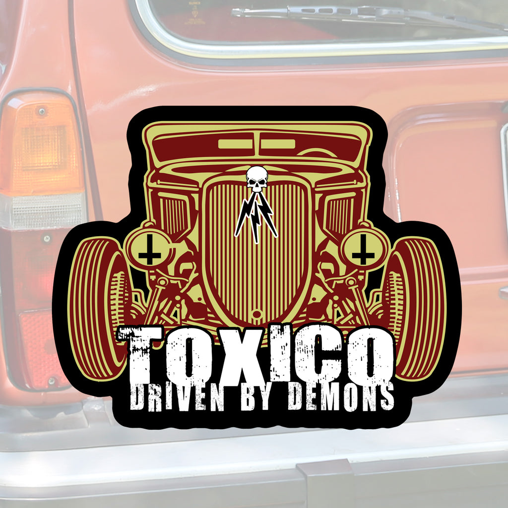 Driven By Demons Sticker - Toxico Clothing