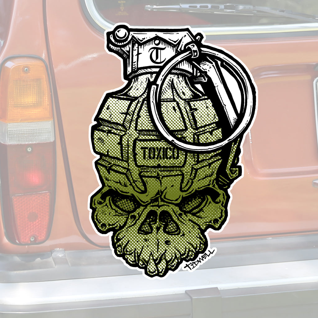 JT Grenade Sticker - Toxico Clothing
